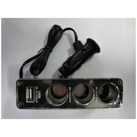roztrojka zapalovače + 1x USB