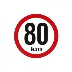 samolepka rychlost 80km