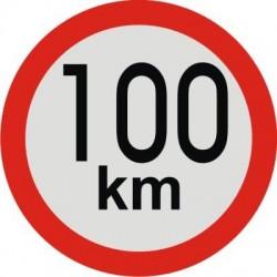 samolepka rychlost 100km