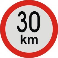 samolepka rychlost 30km