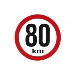 "samolepka rychlost 80km ""mala"""