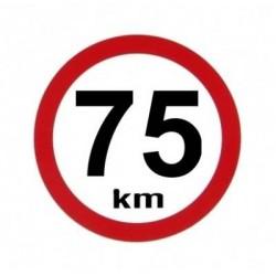 samolepka rychlost 75km