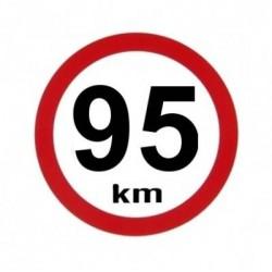 samolepka rychlost 95km