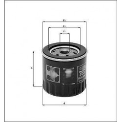 olejový filtr FEL 1,9D , B1W006PR , VEF OF0031