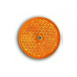 odrazka kulatá ORANŽOVÁ, pr. 60 mm s dírou