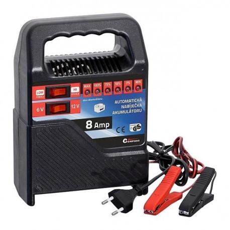 nabíječka 6V, 12V / 8 Amp, 15 - 80Ah LED, Compass