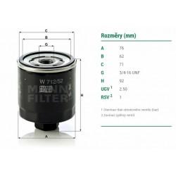 olejový filtr FABIA , W712/52 , DO-1807