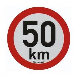 samolepka rychlost 50km pr. 200mm, REFLEXNÍ