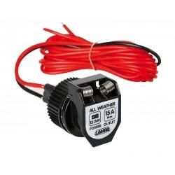 zásuvka zapalovače 12/24V, voděodolnost IP65, kabel délka 360cm