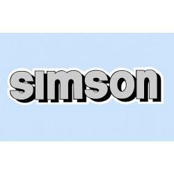 nálepka SIMSON na nádrž ŠEDÁ - ks