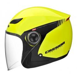 přilba otevřená s plexi Reflex, CASSIDA, XL, čeno/žluto/šedá