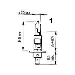 žárovka 24V 100W H1