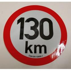 samolepka omezená rychlost 130km pr.200mm REFLEXNÍ