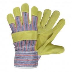 Pracovni rukavice žluté kožené