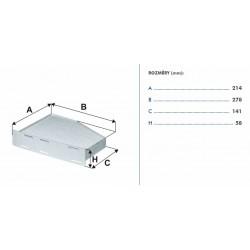 kabinový filtr OCT II., SUP II., YET