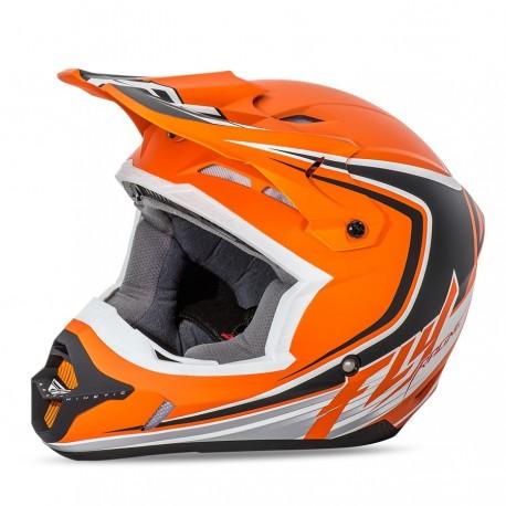 přilba motokrosová Kinetic Fullspeed, FLY RACING - USA (matná oranžová/černá)