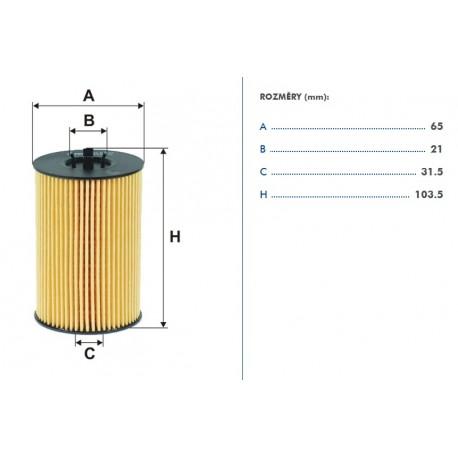 olejový filtr - vložka OCT III.