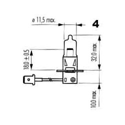 žárovka 12V H3 55W ALLWEATHER