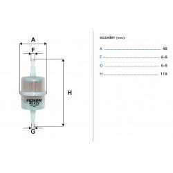 palivový filtr benzín větší PS822