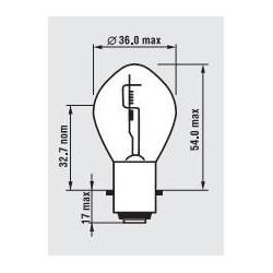žárovka 24V 45-40W S2 BA20d