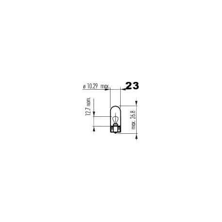 žárovka 24V / 5W celosklo W2,1x9,5d