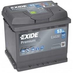 autobaterie 12V / 53Ah, EXIDE Premium, EA530
