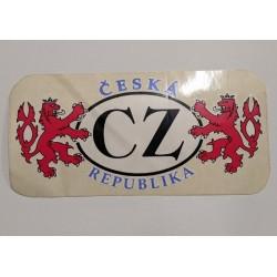 samolepka - CESKA REPUBLIKA