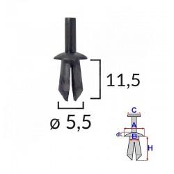 plastový čep, průměr D5 mm