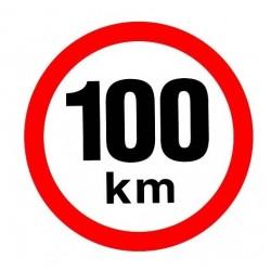 samolepka rychlost 100km reflexní 150mm