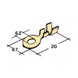 očko 6mm CU ( drat 0,8-4 MM )