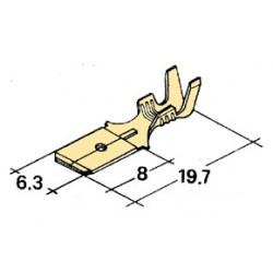 konektor samec 6,3x8mm