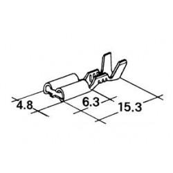 konektor samice 4,8x6,3mm