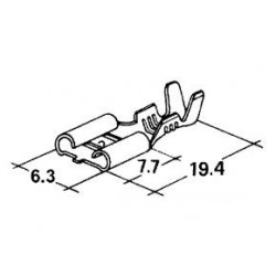 konektor samice 6,3x7,7mm