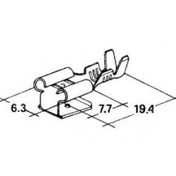 konektor samice + samec 6,3x7,7mm